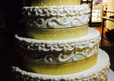 metallic-wedding-cakes-wilmington-nc