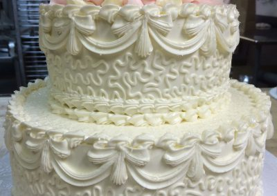 pink-floral-white-filigree-hand-illustrated-wedding-cakes-wilmington-nc