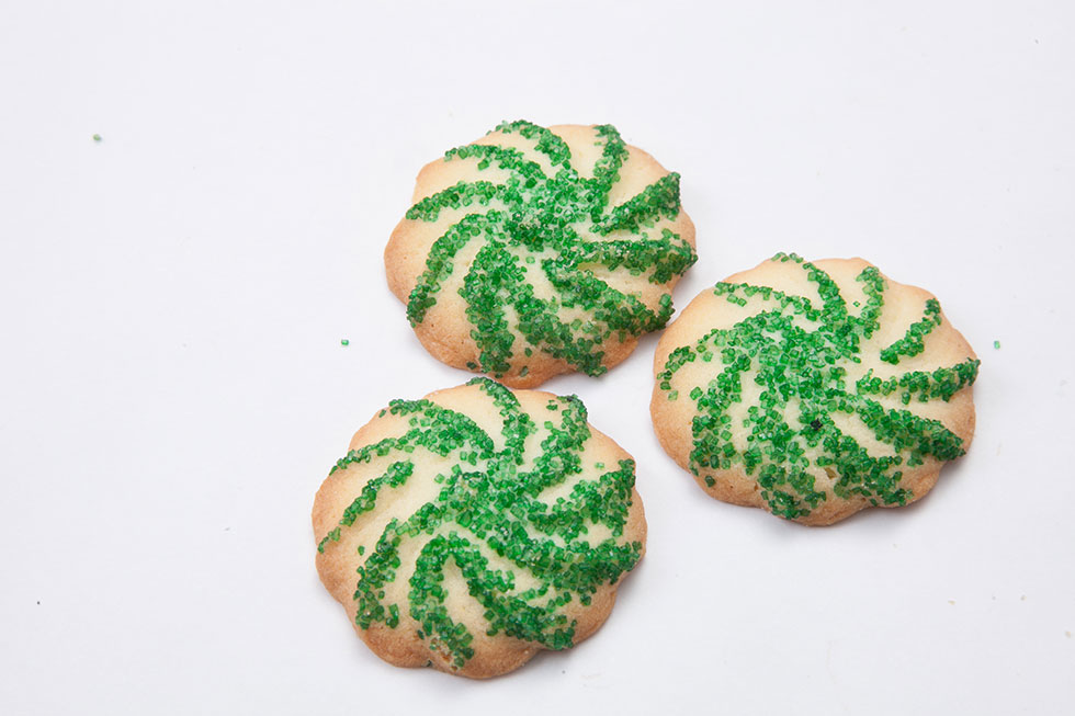 Christmas Green Sprinkle Swirls Butter Cookies Apple Annie S Bake Shop